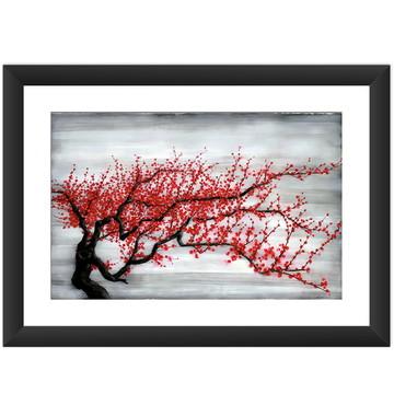 Quadro Arte Japonesa Flor Cerejeira Cult