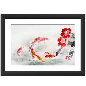 Quadro Carpas Japonesas Oriental Arte
