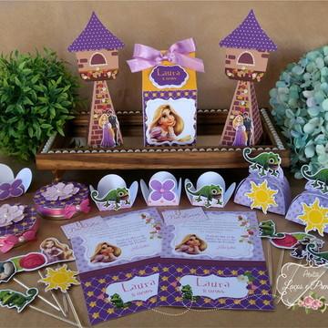 Kit Festa Enrolados - Rapunzel