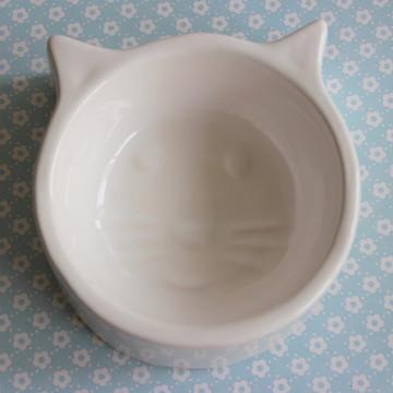 Comedouro de gato - Branco