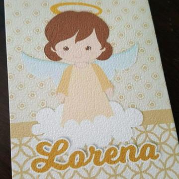 Convite Batizado - Anjinha Dourada