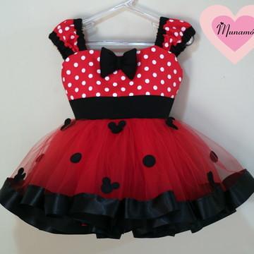 Vestido fantasia minnie vermelha