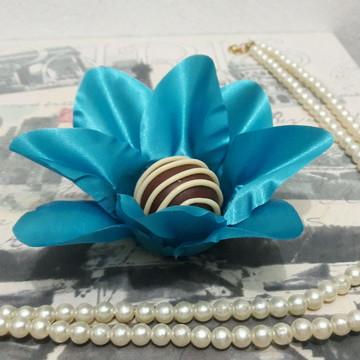 Forminha Lírio de Tecido - Azul Turquesa