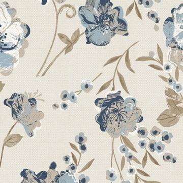 Papel de Parede floral fundo bege 193