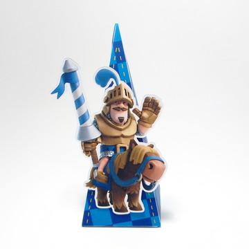 Caixa Pirâmide Clash Royale Azul
