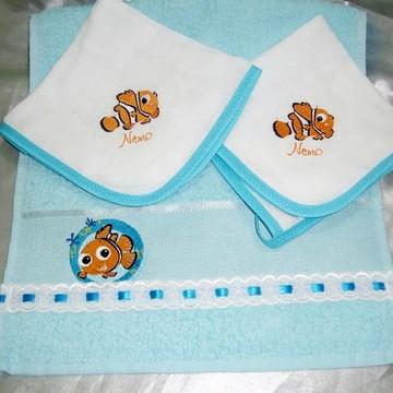 Kit toalhinha e fraldinha de boca