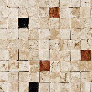 Papel de Parede Pedra em cubos 08