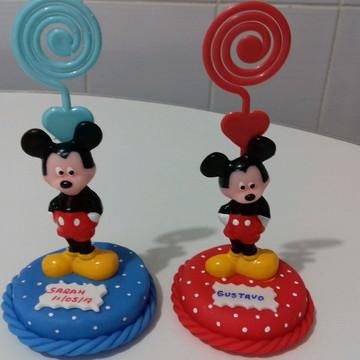 Lembrancinhas Mickey porta recados aniversario