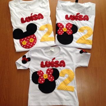 Camiseta Minnie (kit família)