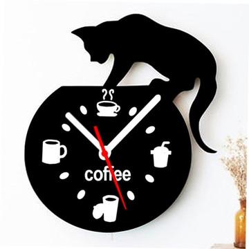 Relógio De Parede Sala Gato No Aquário
