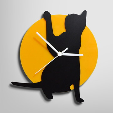 Relógio De Parede Sala Gato Sentado 2