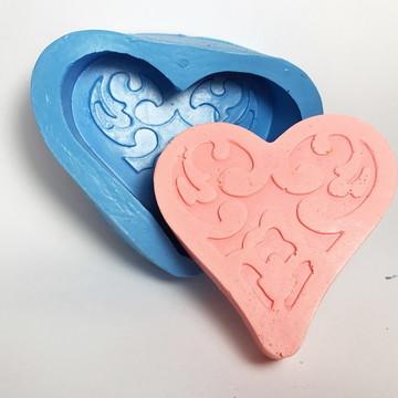 Coração da Rainha - molde de silicone