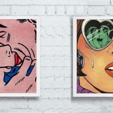 Quadros retrô pop art