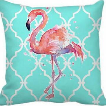 Capa de Almofada Azul Flamingo