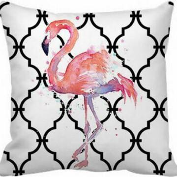 Capa de Almofada tela Flamingo