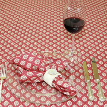 Toalha de mesa retangular Rose Burgandy