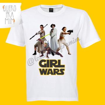 Camiseta Star Wars Personagens Femininos