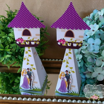 Cone torre Enrolados - Rapunzel