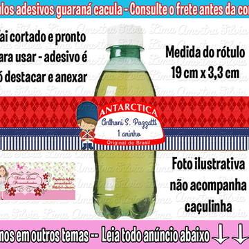 Rótulo Guaraná soldadinho de chumbo