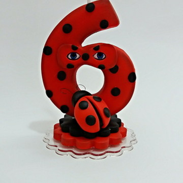 Vela de biscuit Miraculous Lady Bug