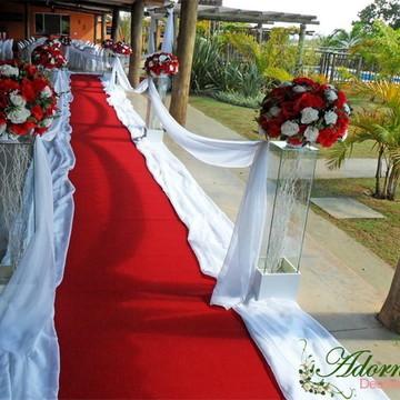 Aluguel Decoração Cerimônia Casamento Vermelho Chácara Sítio