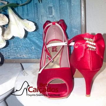 40b8a89b2f Sapato Scarpin Vermelho Festa