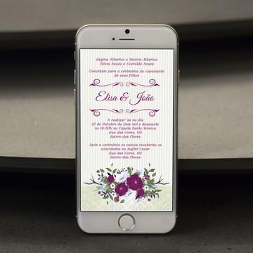 Convite Digital Casamento - PROMOÇÂO