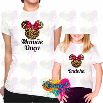 Camisa Tal Mãe Tal Filha Minnie Onça