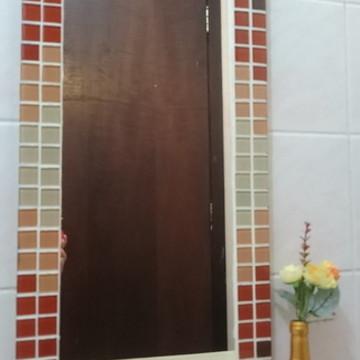 Espelho Decorativo Degradê Caramelo