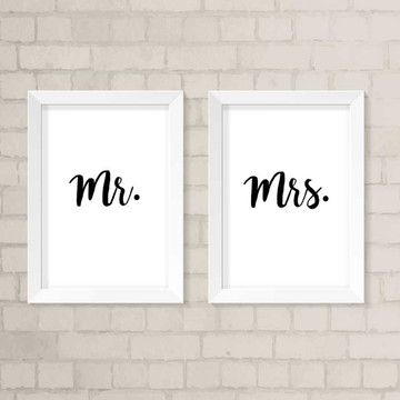 Quadros A3 - Mr. & Mrs.