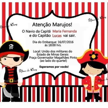 Convite Pirata Gemeos