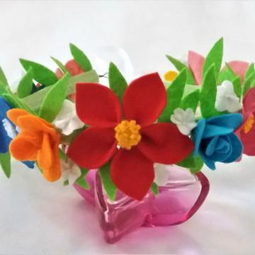 Coroa de Flores em Feltro