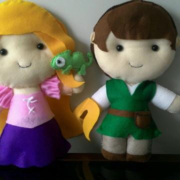Rapunzel, príncipe Flynn e Pascal