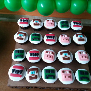 Mini cupcake Minecraft