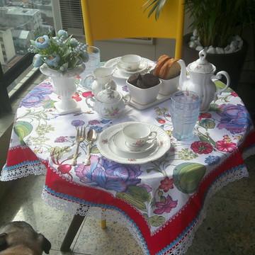 Toalha de Mesa customizada Floral
