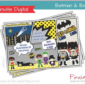 Convite Digital Batman e Batgirl