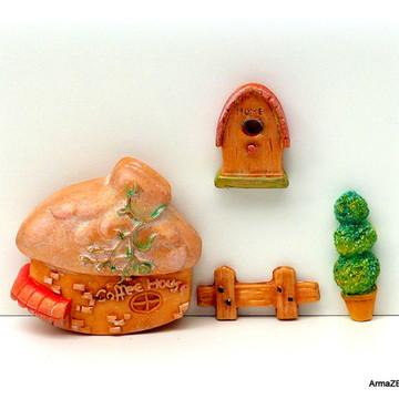 4 pçs.Kit Coffee House-miniaturas