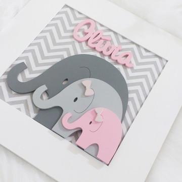Enfeite de Maternidade Chevron Elefante