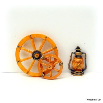 3 pçs.Kit Roda carreta-miniaturas