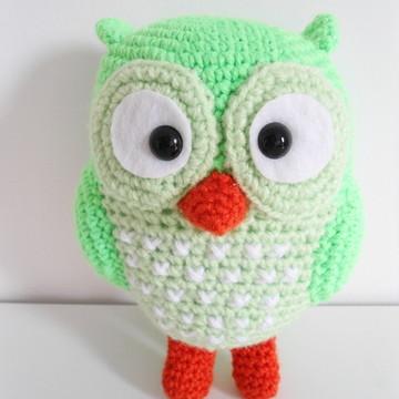 Amigurumi Coruja Verde (Owl Gurumi)