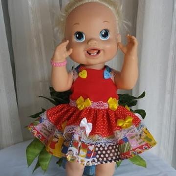 Vestido caipira / boneca baby alive