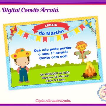 Convite Digital Arraiá Menino