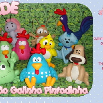 Molde Coleção Galinha Pintadinha