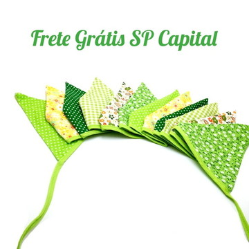 Bandeirinha em Tecidos Verdes