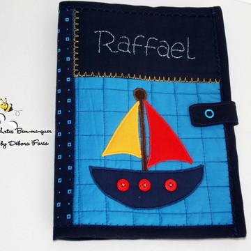 Capa de Caderneta de Vacinação em tecido ---barco