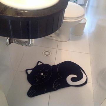 tapete de banho/lavabo - gatinho
