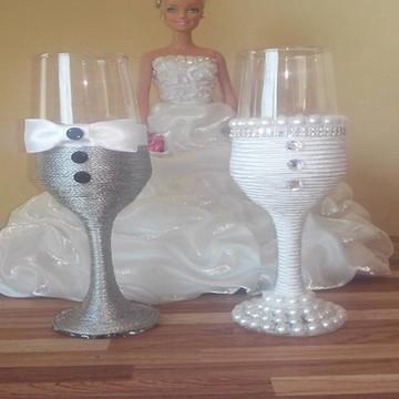 Taças para Brinde Casamento Noivos Par