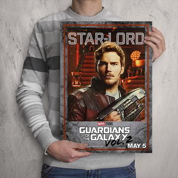 Quadro Guardiões da Galáxia Peter Quill