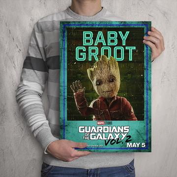 Quadro Guardiões da Galáxia / Baby Groot