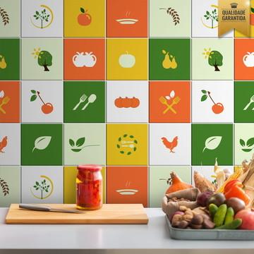 Adesivo de azulejo cozinha color